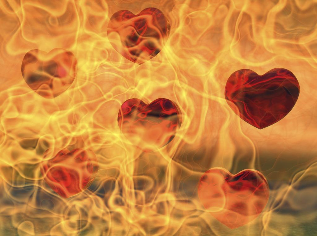 hearts in flames